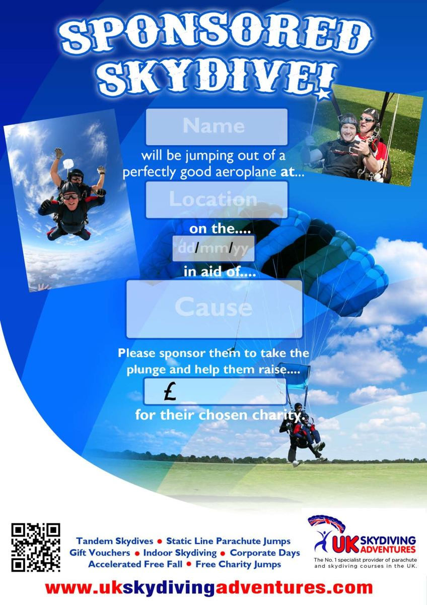 Sponsored skydive poster