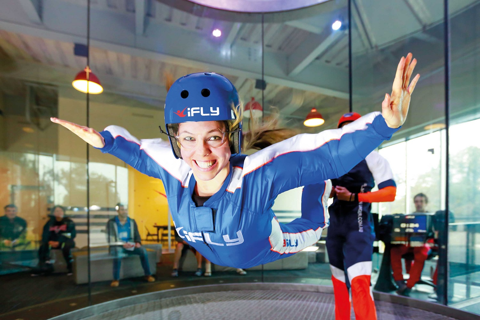 Indoor Skydiving Girl