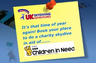BBC Children In Need Charity Skydive