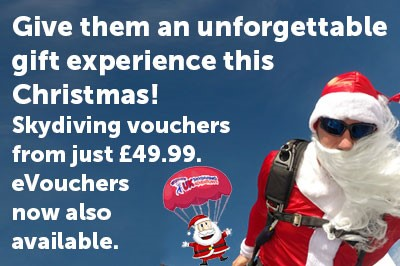 Christmas Skydiving Gift Vouchers New